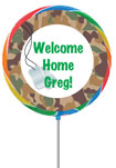 welcome home party favors personalized lollipops