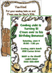 personalized western theme party invitation