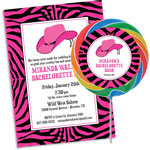 Western cowgirl bachelorette theme invitations and favors