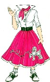Poodle Skirt cutout