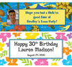 luau birthday party banners and decorations