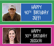 custom birthday banners. personalized birthday banners.