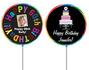 Custom lollipop favors. Birthday personalized lollipops.