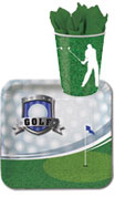 golf theme paper goods