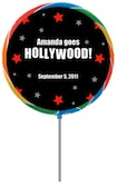 custom hollywood lollipop favor