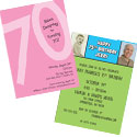 70th birthday milestone invitations