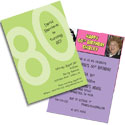 80th birthday milestone invitations