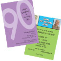90th birthday milestone invitations