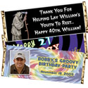 Milestone birthday party candy bar favors