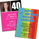 40th birthday milestone invitations