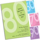 80th Birthday Invitations and Favors