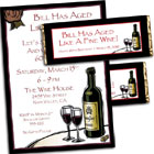 Wine theme birthday invitation and favors