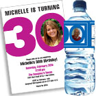 30th birthday milestone invitations and favors