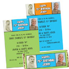 Double photo birthday invitations and favors