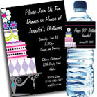 Birthday Cake theme invitation and decorations
