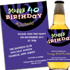 Birthday Swirls Theme Invitation and Favors