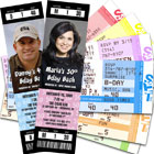 80th Birthday Party Ticket Invitations