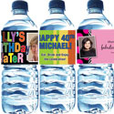 Custom birthday party water bottle labels