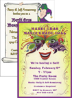 custom mardi gras birthday party invitation