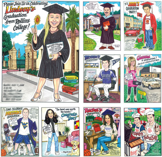 Custom Graduation Caricature / A custom caricature of the graduate is sure to make your graduation party one of a kind.