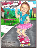 Custom caricature invitation