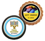Chanukah theme cookie party favors