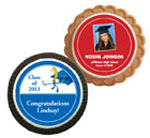Graduation theme cookie party favors