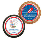 Patriotic theme cookie party favors
