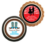 Western theme cookie party favors