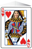 Personalized queen of hearts photo centerpiece
