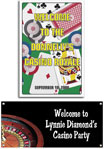 Personalized casino party welcome signs and banners