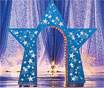 Lit star arch decoration