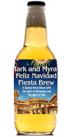 Feliz Navidad holiday beer bottle labels