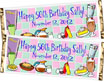 Fifties party candy bar wrapper favor