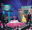 Fifties drive in and diner theme party display kit