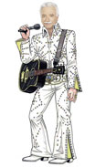 Lifesize photo Elvis cutout