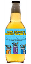 Personalized golf theme beer bottle labels