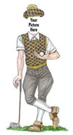 Personalized lifesize golfer cutut