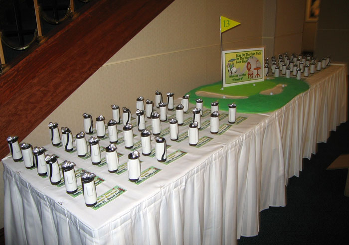 Our Golf Party Seating Display Custom