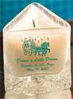Personalized votive candles