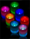 Mardi Gras candles