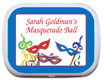 Personalized Mardi Gras party mint tins