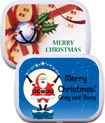 personalized christmas office party favors, mint and candy tins