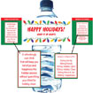 Chirstmas party water botle labels