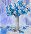 Snow theme balloon tree
