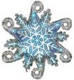 Snowflake linky mylar balloon