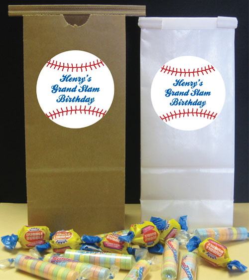Baseball Theme Favor Bag