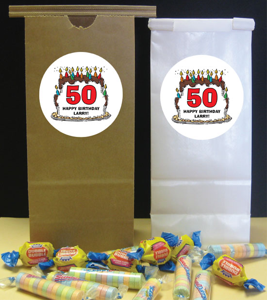 Birthday Cake For Him Theme Favor Bag