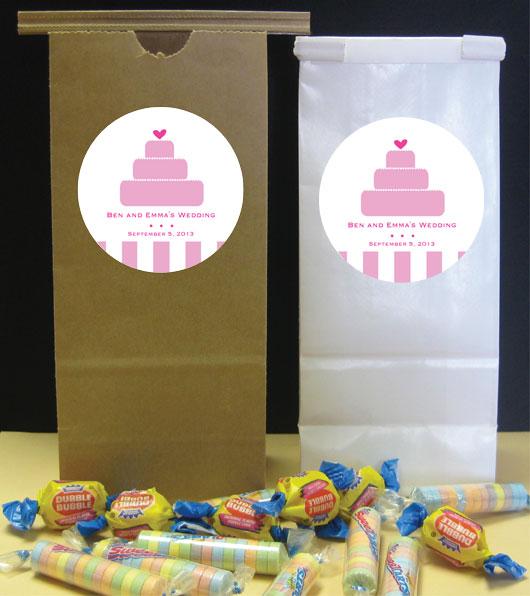 Bridal Wedding Cake Theme Party Favor Bag