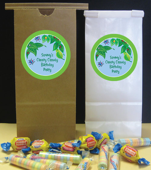 Wriggly Bugs Theme Favor Bag / Give the little bug some fun favors